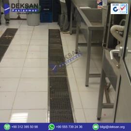 Paslanmaz Çelik kanal ve üst ızgarası  (PDK-100)