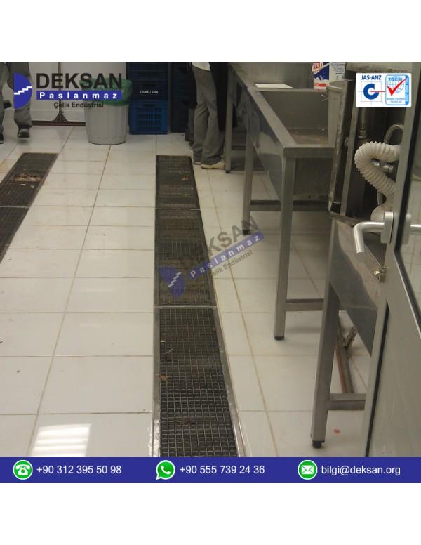 Paslanmaz Çelik kanal ve üst ızgarası  (PDK-10...